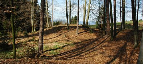 Der archäologischer Wanderweg.